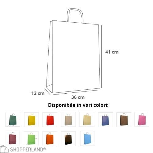 Borse Carta Rainbow 36x12x41