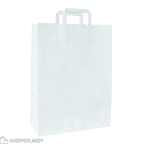 Buste Carta Piattina kraft bianco f.to 26x16x29 - 300 pz