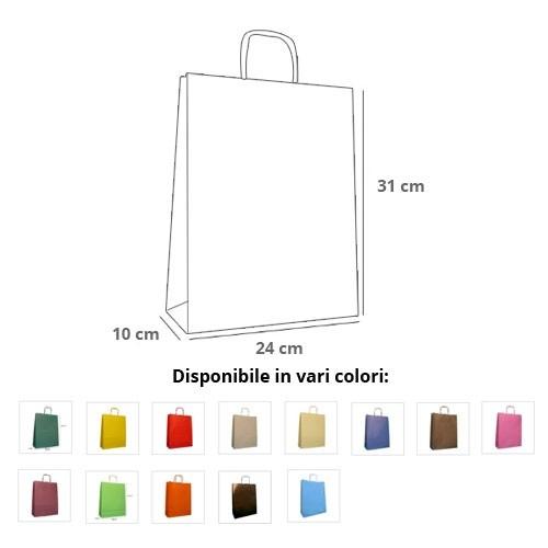 Borse Carta Rainbow 24x10x31