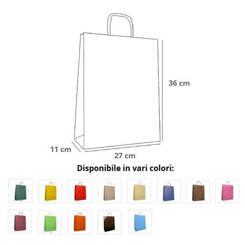 Borse Carta Rainbow 27x11x36