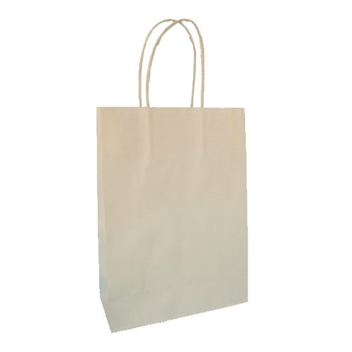 Borse Carta Sealing Bianco ritorta 23x10x32 - 250 pz