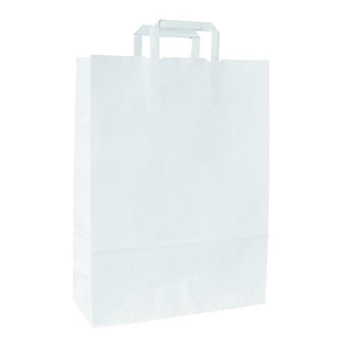 Buste Carta Piattina kraft bianco f.to 23x10x32 - 400 pz