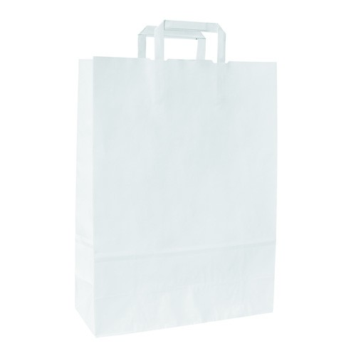 Buste Carta Piattina kraft bianco f.to 26x16x29 - 300 pz