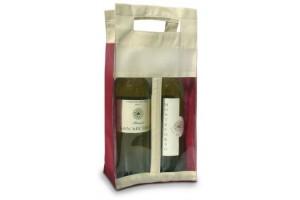 Borsa in TNT per 2 Bottiglie – 1.12 Euro Cad. - 17x8x36 – Bordeaux – 200 Pz
