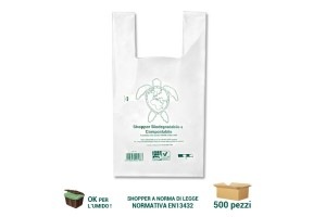 Shopper biodegradabili compostabili a canottiera