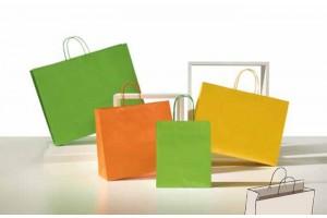Shopper Pastello verde mandarino giallo (bordo risvoltato)