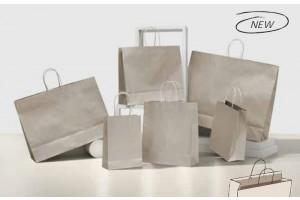 Shopper platino bordo risvoltato