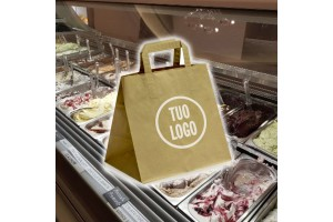 Shoppers in Carta da Asporto Take Away Avana Riciclato - 0.398 Euro Cad. 27+17x29 2000 Pz.