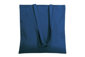 Shopper in cotone da 140 grammi con manici da 75 cm- 0.70 Euro Cad. - 38x42 - Blu - 200 Pz.