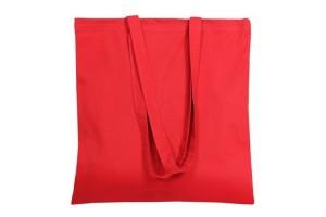 Shopper in cotone da 140 grammi con manici da 75 cm- 0.70 Euro Cad. - 38x42 - Rossa - 200 Pz.