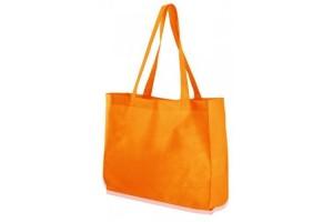Shopper in TNT con fondo largo - 0.67 Euro Cad. - 38x15x42 - Arancio - 200 Pz.
