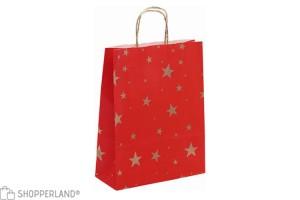 borse carta Stelline f.to 24x10x31 - 250 pz