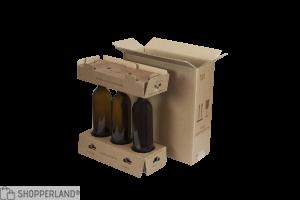 Scatola per bottiglie 330x130x360 mm Avana