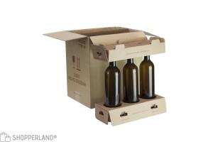Scatola per bottiglie 330x250x360 mm Avana