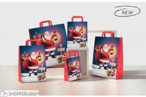Shopper manico piatto Babbo Natale