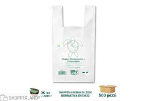 Shopper biodegradabili compostabili a canottiera