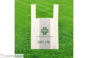 Shopper biodegradabili per farmacia con manico a canottiera