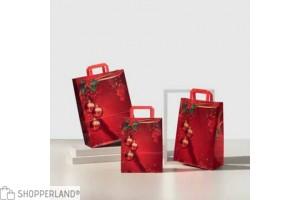 Shopper carta con disegno natalizio