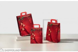Shopper manico piatto Navidad